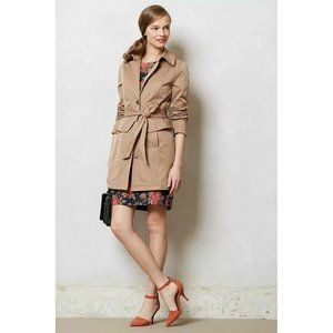 Plenty by Tracy Reese Corin Peplum Trench Coat L